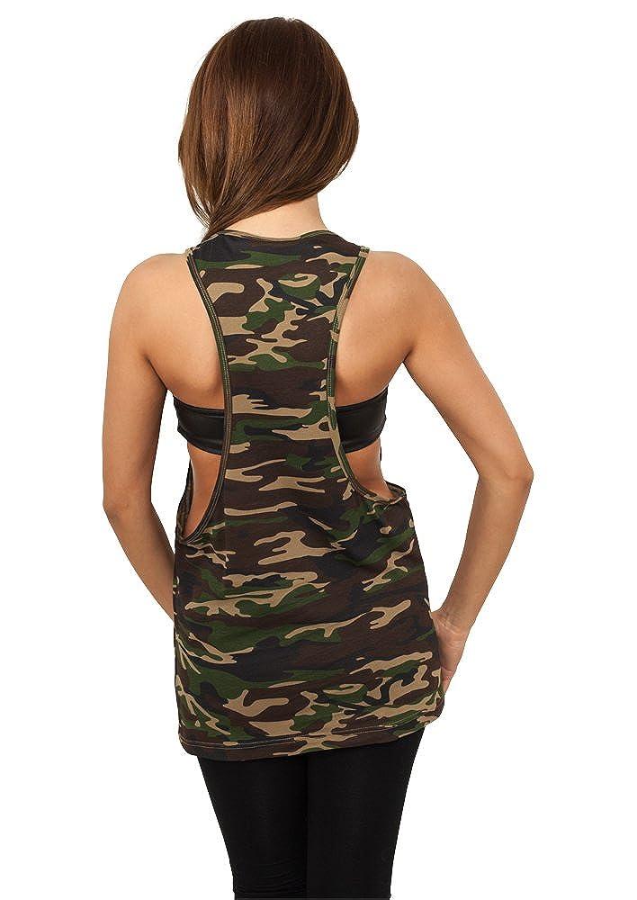 Urban Classic Womens Ladies Camo Loose Tank Vest