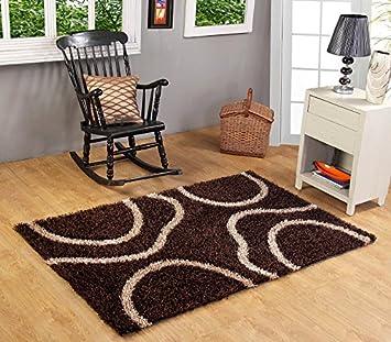 Indian Colors Polyester Malai Dori Shaggy Carpet