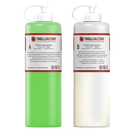 TFC Silikon Kautschuk Typ 2 I Premium Dubliersilikon I mittelhart, 500 g (2 x 250 g)