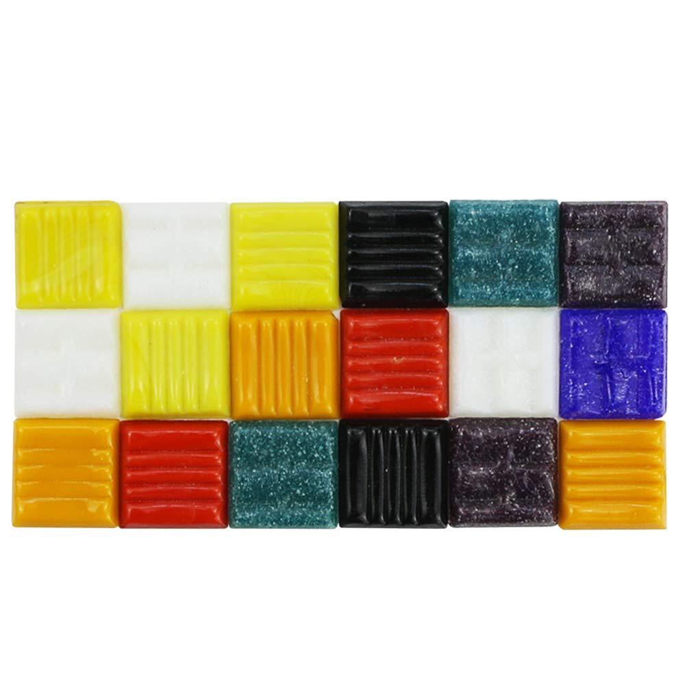 BcPowr Mosaic Tiles Mixed Colors Venetian Glass Tile Mixed Color Mosaic Tiles Mosaic Glass Pieces 16 oz Craft And Backsplash Tile Home Decoratio 1 Pound 3//4 Bulk Mosaic Tile Assortment 20mm
