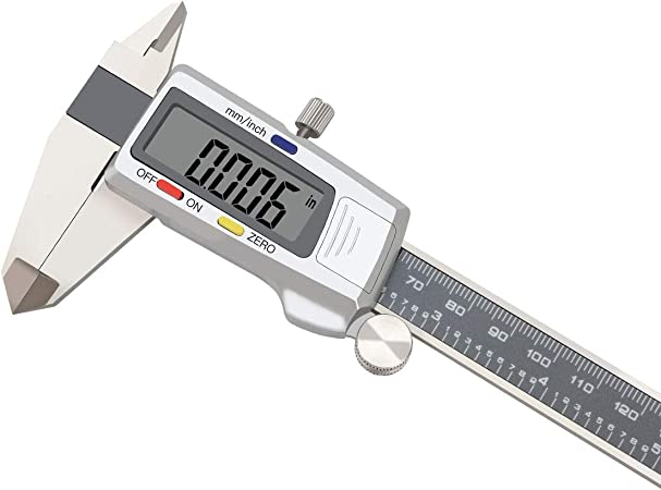 "6/"" Digital Electronic Caliper 0.0005/"" Inch Metric Fractions X-large display"