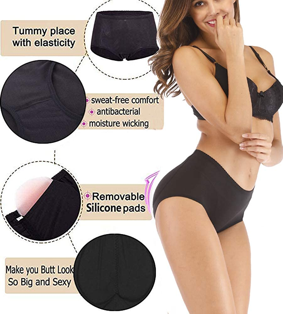 fbd7c3ccb LYZ Silicone Padded Buttock Enhancer Body Shaper Butt Lift Padding Contral Panties  Underwear at Amazon Women s Clothing store