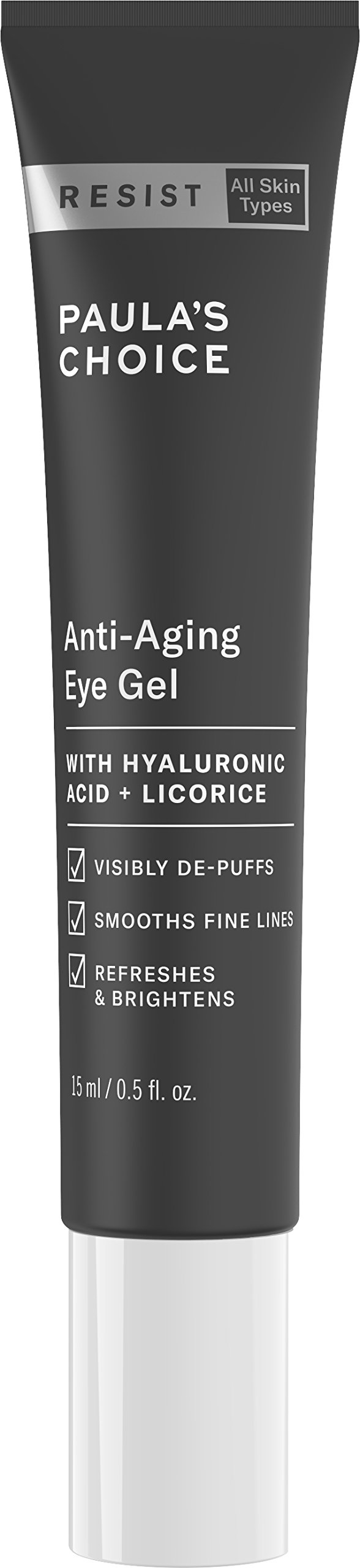 Paula's Choice RESIST Anti-Aging Eye Gel w/Hyaluronic Acid, 0.5 oz Tube Soothing Treatment for Fine Lines and Puffiness in the Under Eye Area