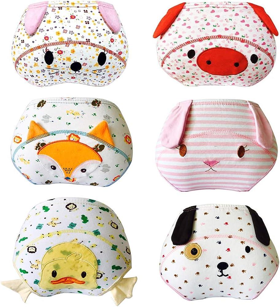 Lazzon 6 Unidades Braguitas de Aprendizaje Algodón Bebé Niña ...