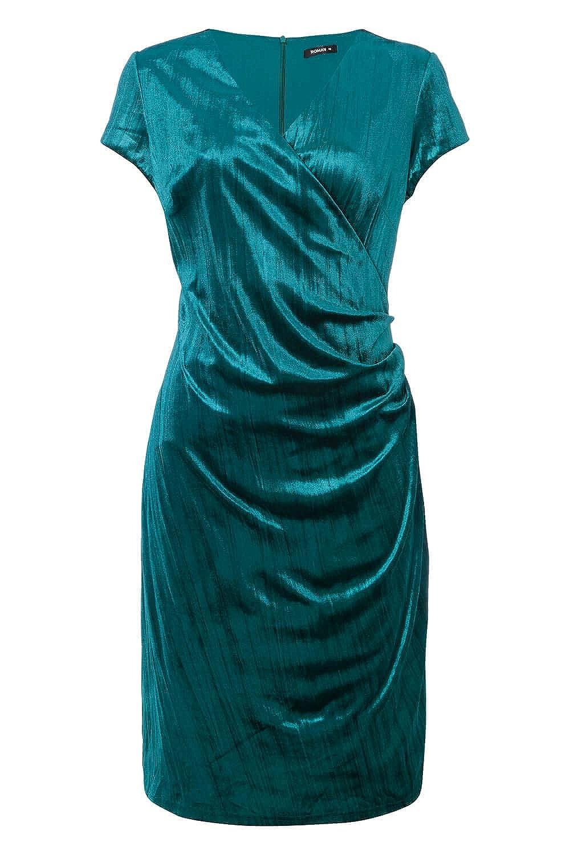 b3103a3f46c Roman Originals Women s Green Velvet Wrap Dress Sizes 10-20 - Jade - Size 20   Amazon.co.uk  Clothing