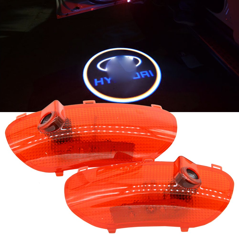Car LED Door Welcome Logo Laser Projector Ghost Shadow Light For hyundai Sonata 8 2010-2014 Parking Led Step Courtesy Light 2PCS/set shaobo