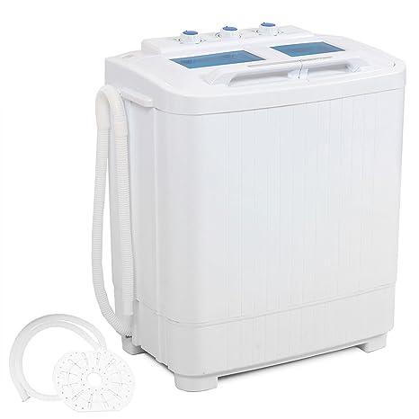 DELLA Electric Small Mini Portable Compact Washer Washing Machine (33L  Washer U0026 16L Dryer)