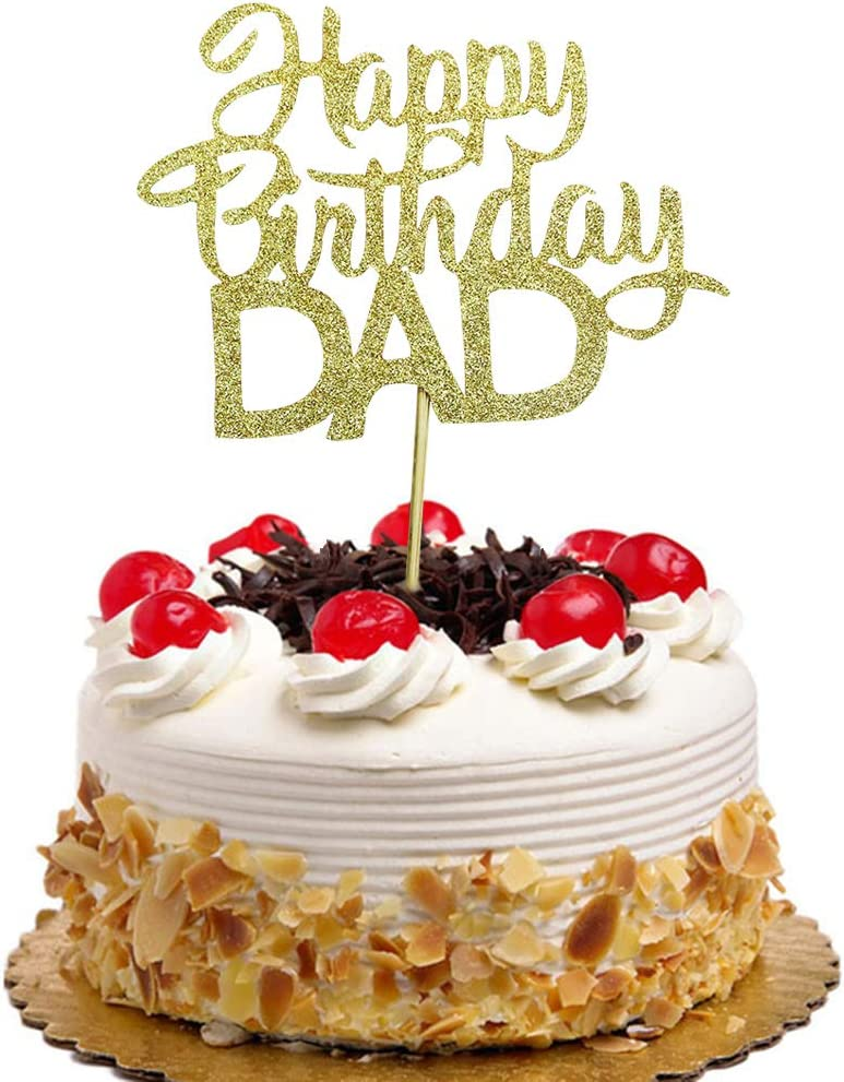 Incredible Happy Birthday Dad Cake Topper For Fathers Birthday Best Dad Funny Birthday Cards Online Inifofree Goldxyz