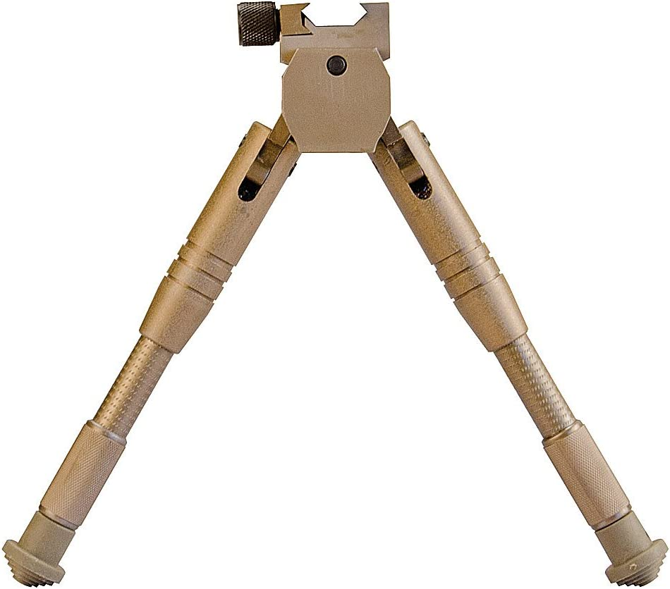 Image of a bronze-colored Caldwell Bipod on a white background.
