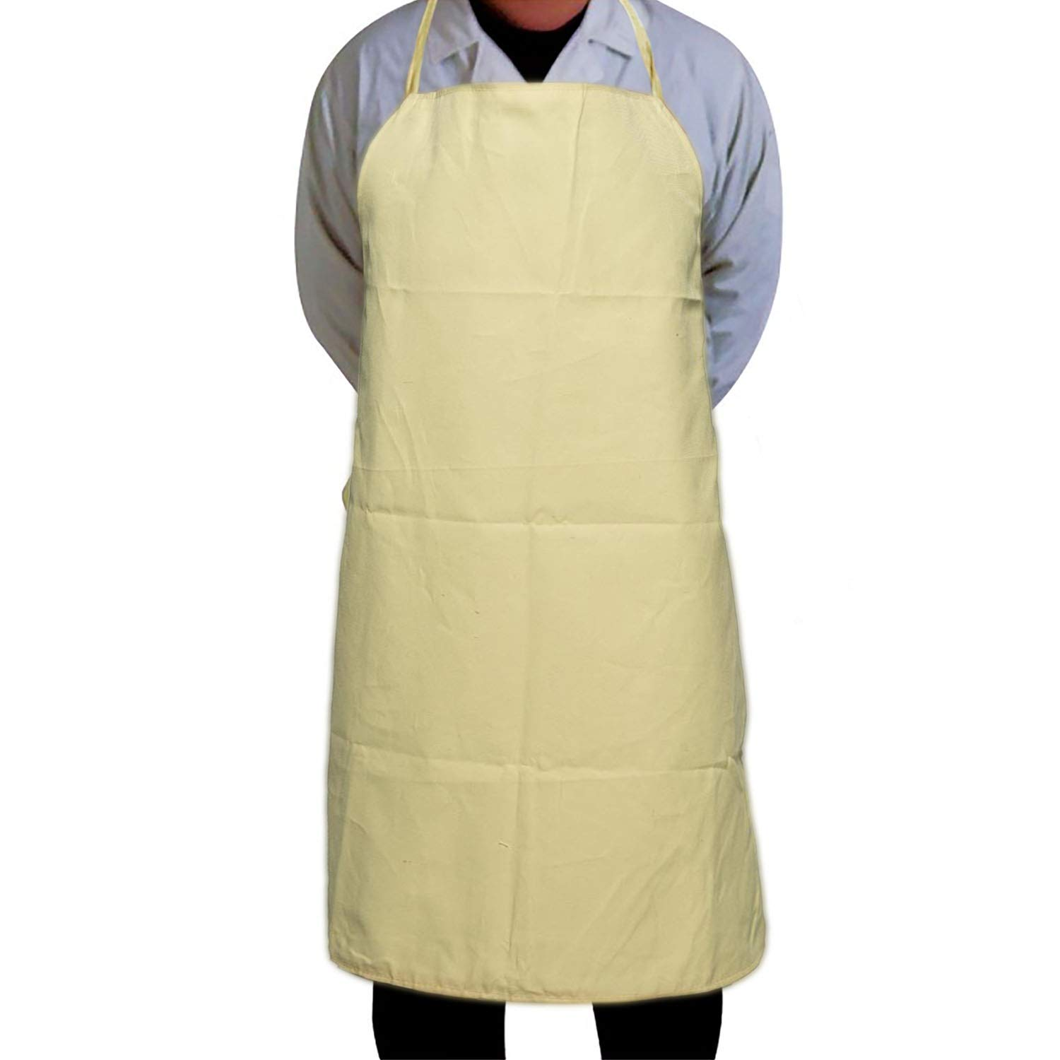 Phoenixfly99 Yellow Kevlar Mesh Bib Style Cut and Heat Resistant Welding Apron Superior Heavy Safety Apparel Splash Proof Clothes For Woodwoking Work Aprons 37'' Length x 27'' Width