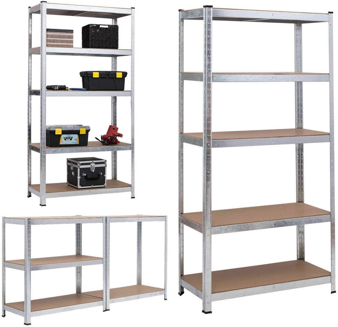 Lagerregal Garage Metallregal 200x100x50cm Schwerlastregal max Blau mit 875 kg belastbar Einstellbar Kellerregal Steckregal