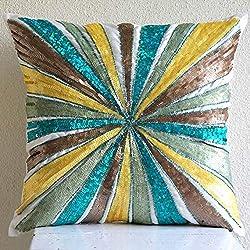 Multicolor Sequins Pinwheel Pillow Cover
