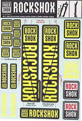 RockShox Decal Kit - 30/32mm Yellow, 30/32mm, SID, Reba, Revelation