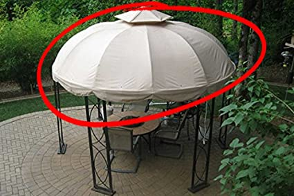 Attractive The Outdoor Patio Store Replacement Canopy For Lowes Garden Treasures 12ft  Round Gazebo