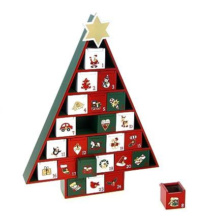 Sapin Calendrier De L Avent.Deco Noel Calendrier De L Avent Durable En Bois Forme Sapin