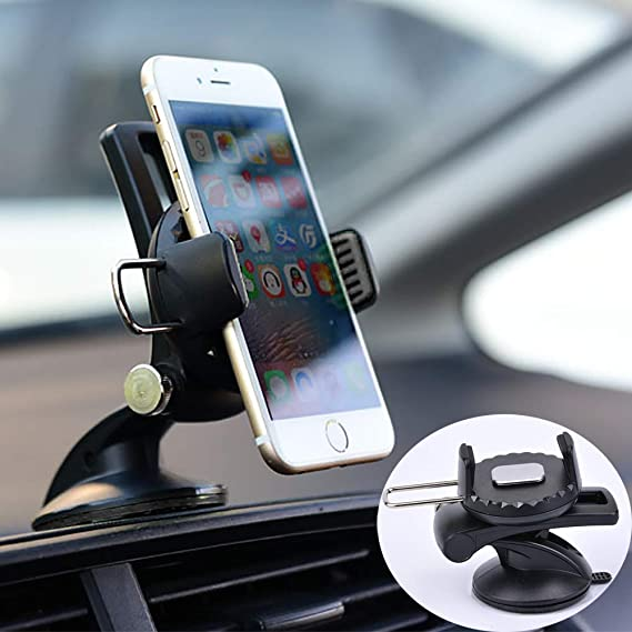 Universal Car 360° Windshield Mount Holder for Cell Phone GPS iPhone X 8 8 Plus