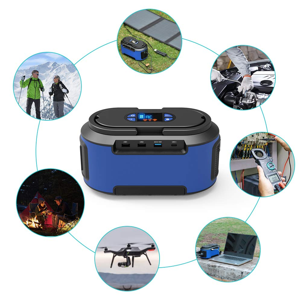 RegeMoudal Solar Power Generator 222Wh 60000mAh 110V Camping Home Back up Portable Power Station Supply Rechargeable Emergency 4 DC Ports 4 USB Ports Charged by Solar/AC Outlet/Car for CPAP by RegeMoudal (Image #4)