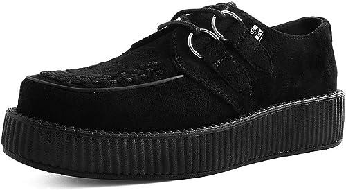 TALLA 45 EU. T.U.K. Shoes Gamuza Negro Viva Vegan Bajo La Enredadera