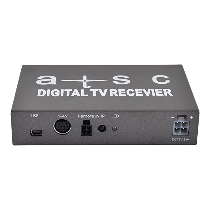 Amazon.com: eDealMax Universal del automóvil del coche antena Dual móvil ATSC-T TV Digital Receptor Set Top Box: Car Electronics