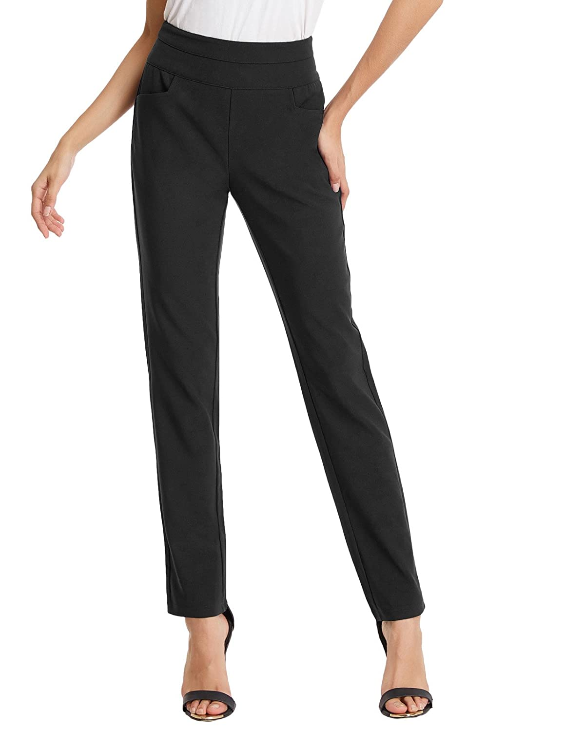 Kate Kasin Women's Slim Fit Pencil Pants Ankle Pants for Work with Pocket