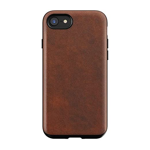 Nomad I Phone 8/7 Rugged Horween Leather Phone Case   10ft. Drop Protection, Raised Edges, Horween Leather   Rustic Brown by Nomad