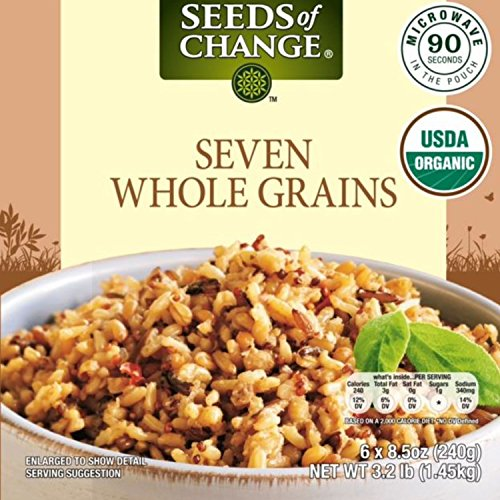 Seeds of Change Microwavable Rice, Tigris A Mixture of Seven Whole Grains, 8.5-Ounce (Pack of 6) ()