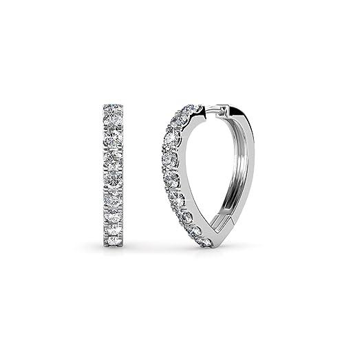b1e949892 Cate & Chloe Leah 18k White Gold Ring w/Swarovski Crystals, Trendy  Beautiful Sparkling