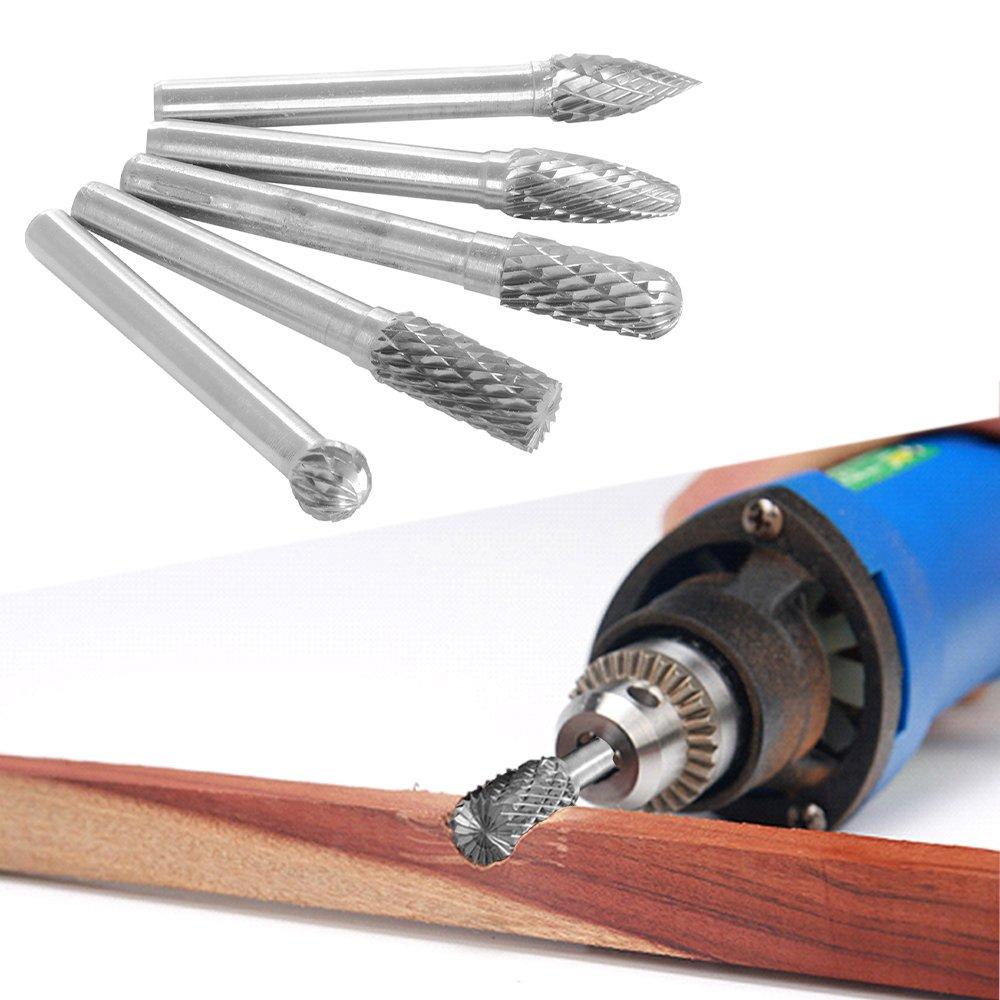 XCSOURCE 1 Set 6X8MM Head Tungsten Carbide Burrs for Rotary Drill Die Grinder Carving Bit BI044