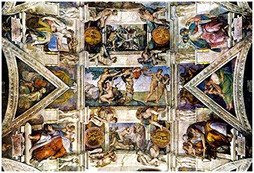 Poster Revolution Michelangelo Creation Sistine Chapel Art Poster Adam, 13