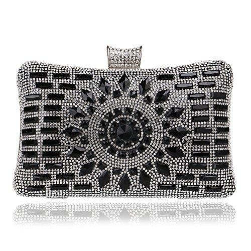 Handbag Black Diamond Bags Clutch Chain Out Wedding Evening MGH Shoulder Women Party Dress A7UnC