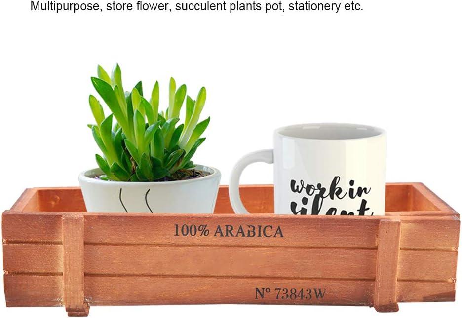 Vaso Rettangolare Vintage per fioriera per fioriera succulenta per Prodotti di Decorazione Domestica HERCHR Fioriera in Legno