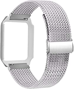 ALNBO Watch Band with Case Compatible with 38mm 42mm Stainless Steel Replacement Band for Watch Series 3 Series 2 Series 1 (Silver, 42mm Watch)