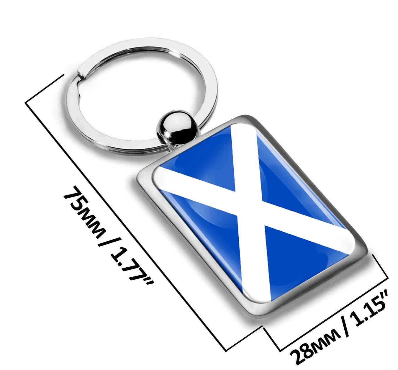Llavero de Regalo Metal 3D con dise/ño de Bandera de Escocia Scotland Flag KK 242