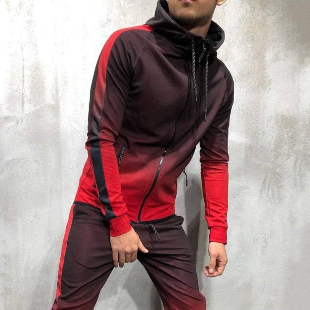 303a539eb Amazon.com: Mens Tracksuit Set,Vanvler Male Autumn Winter Packwork ...