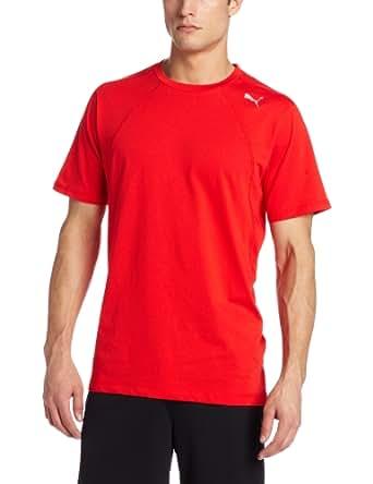 PUMA Men's PE Training Multi Short Sleeve Tee, Puma Red, XX-Large