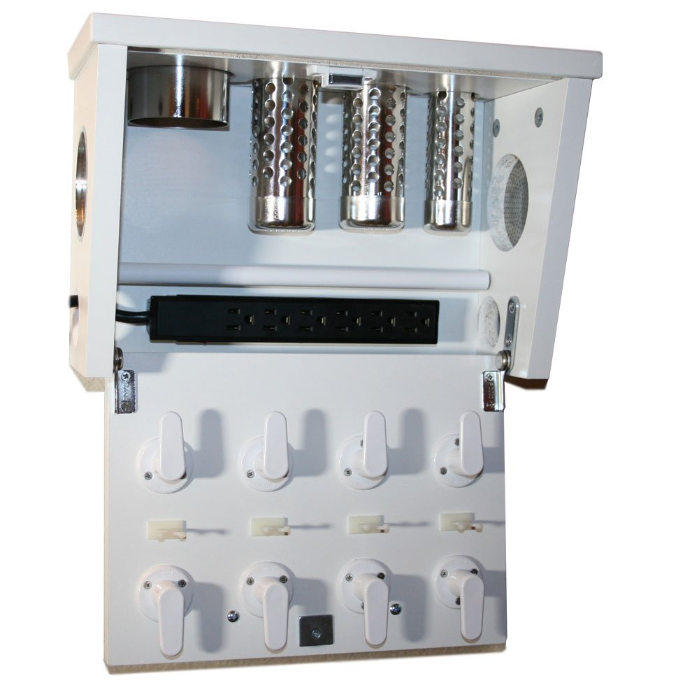 Hair Dryer Curling Iron Organizer Part - 27: Amazon.com: Vanity Valet Boutique - Curling Iron, Blow Dryer, And Flat Iron  Holder - Wall Mount (VVB: White): Home U0026 Kitchen