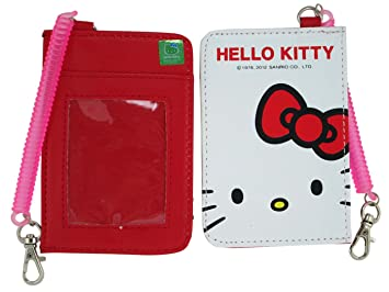 Amazon red hello kitty card holder hello kitty id holder red hello kitty card holder hello kitty id holder reheart Images
