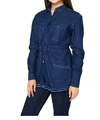 123f648b1e7821 Star Dream New Look Women's Sexy Ladies Denim Shirt/Blouse Boyfriend  Style/Casual/
