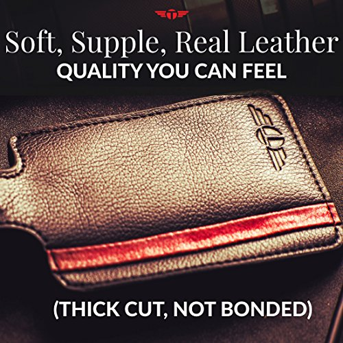 Privacy Luggage Tag Soft Real Genuine Leather Includes Lifetime Never Lost Guarantee by Talonport (Image #2)