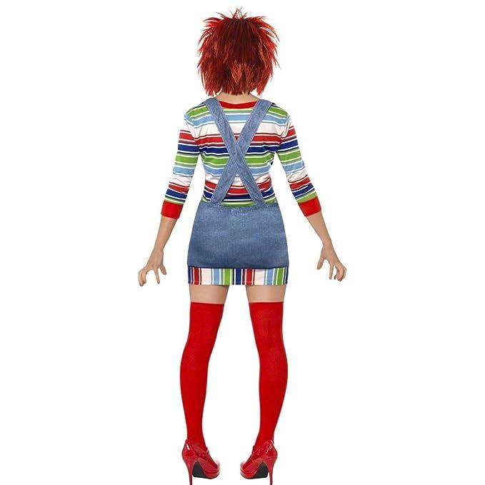 Chucky Disfraz Mujer M 40/42 Chucky Lady Disfraz licencia Disfraz muñeca suicidas Halloween Disfraz: Amazon.es: Juguetes y juegos