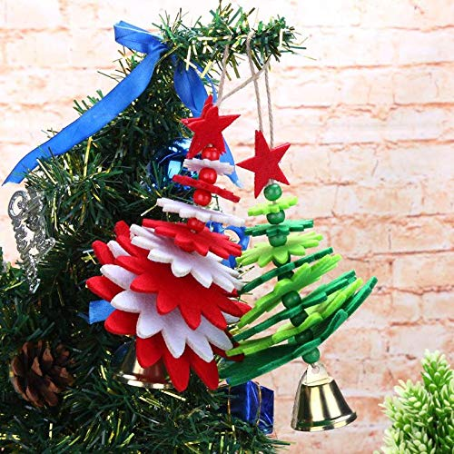 Pendant Drop Ornaments - 2pcs Non Woven Christmas Bell Pendants Xmas Hang Ornament Decorations Santa Claus Snowman Gifts Home - Weihnachten Inflates Died Nicholas Adornos Parachuting Chimney Funn