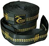 WINTER SALE! Hammock Tree Straps Set. Heavy Duty Non-Stretchable Polyester. 18-Loops Each. Gift Idea. PREMIUM...