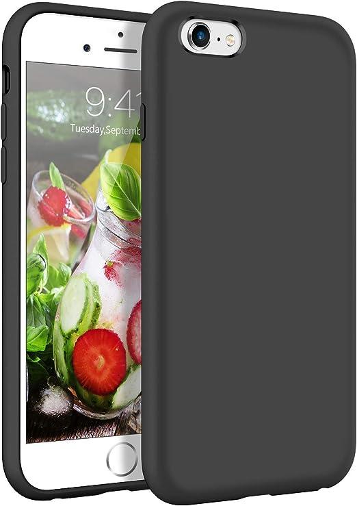 YINLAI Coque pour iPhone 6S Plus et iPhone 6 Plus - Coque fine en silicone liquide souple et en caoutchouc - Doublure en tissu microfibre - Légère et ...