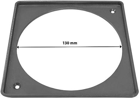 Anhon Inspektionst/ür aus geb/ürstetem Edelstahl mit Rahmen zum Einbau 46 x 51 cm Einzelne T/ür aus Edelstahl zum Grillen 46 x 51 Cm