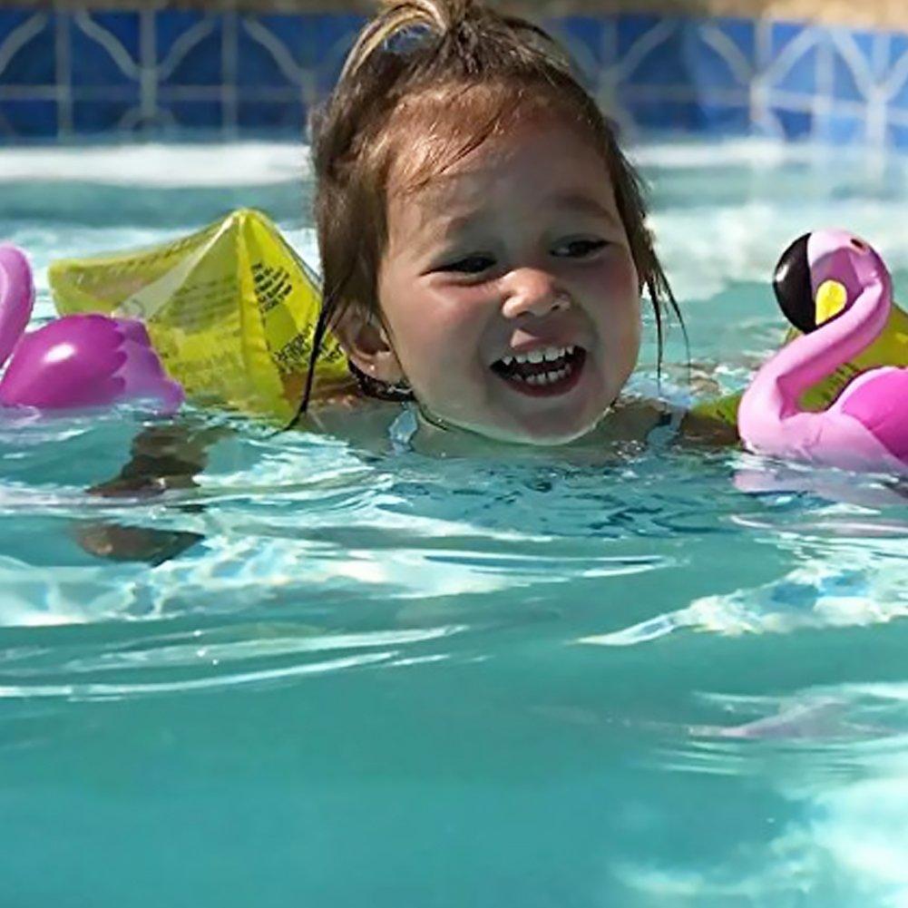 Gonfiabile Swim ARM Bands Flamingos Water Wings Floatation Sleeves Cartoon nuoto anelli da ginnastica Armband tubo piscina galleggianti giocattoli per bambini