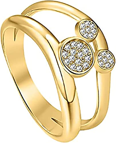 Cyber Monday Round Shape Cubic Zirconia Mouse Ring 14K Yellow Gold Over