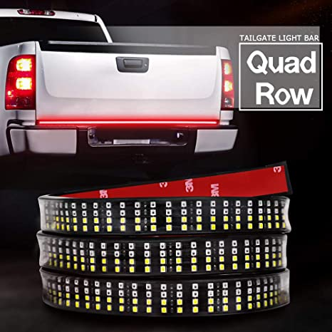 Led Tailgate Light Bar Auto Power Plus 5 Functions Quad Row Truck Bed Led Strip Turn Signal Brake Reverse Bright Lights Red White For Dodge Ram