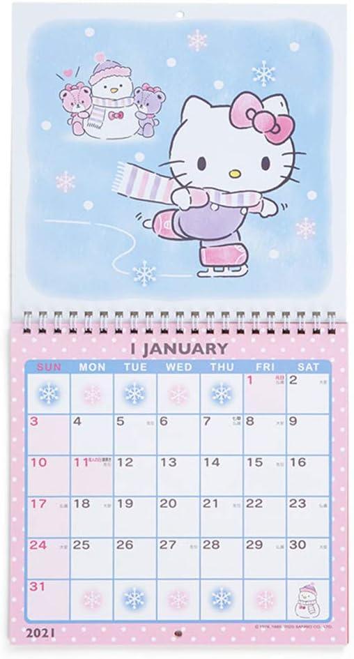 "HELLO KITTY  2021 Monthly Wall Calendar 12/"" x 12/"""