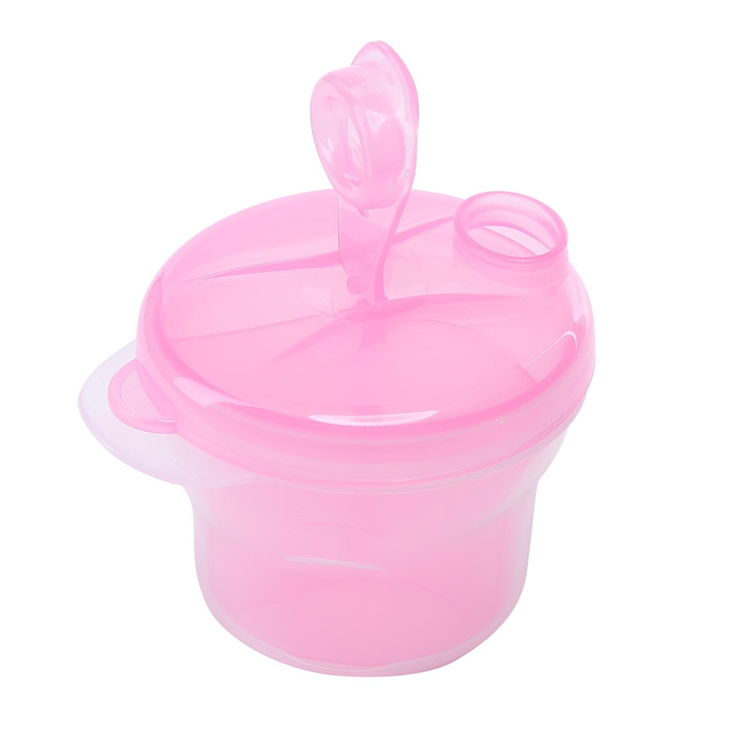 Leegoal(TM) 2 Pack Non-Spill Portable Baby Kids Milk Powder Formula Dispenser and Snack Cup Travel Container Bottle Storage Feeding Box,Pink