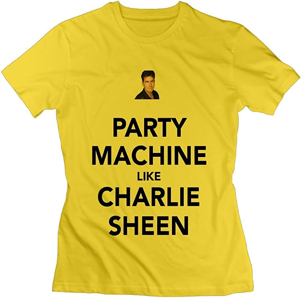 Jenny Dorothy Charlie Sheen Like Charlie Sheen Womens T-Shirt Yellow Womens XX-Large: Amazon.es: Ropa y accesorios